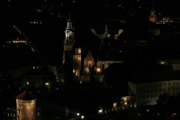 Night Art Print featuring the photograph Cracow By Night by Marta Grabska-Press