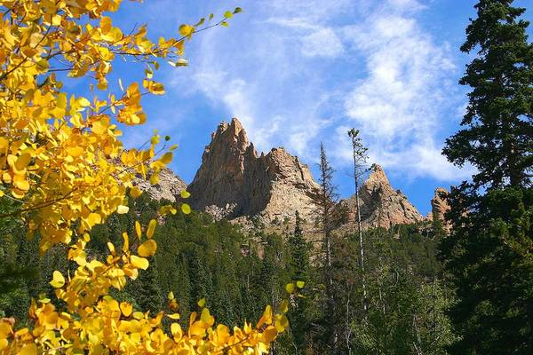 Fall Art Print featuring the photograph Crags In Fall by Perspective Imagery
