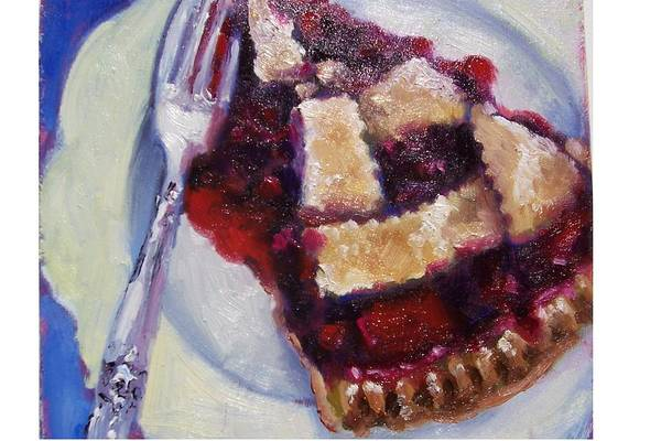 Painting Art Print featuring the painting Cranberry Raisen Pie     by Susan Jenkins