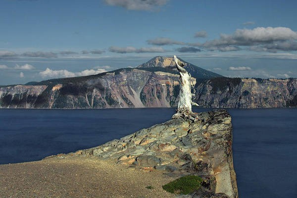 Peaceful Art Print featuring the photograph Crater Lake - A Most Sacred Place Among The Indians Of Southern Oregon by Christine Till
