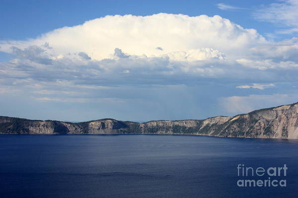 Clouds Art Print featuring the photograph Crater Lake by Carol Groenen