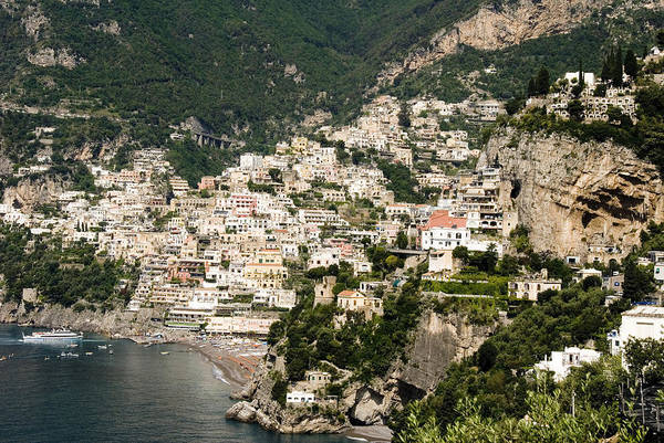 Amalfi Art Print featuring the photograph Crowded Slopes Of Amalfi by Charles Ridgway