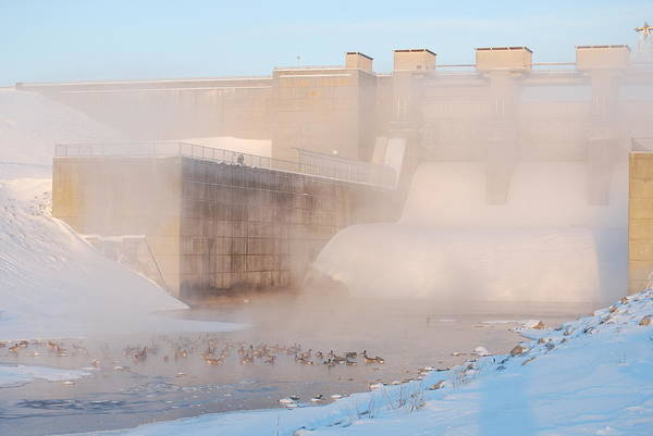 Dam Art Print featuring the photograph Dam Cold by Peter McIntosh