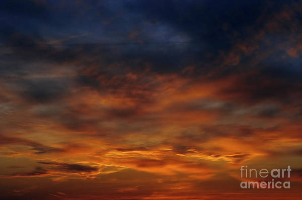Sunset Art Print featuring the photograph Dark Clouds by Michal Boubin