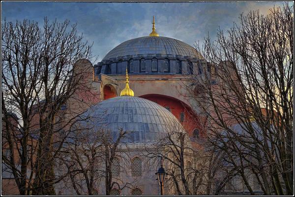 Hagia Sophia Art Print featuring the photograph Dawn Over Hagia Sophia by Joan Carroll
