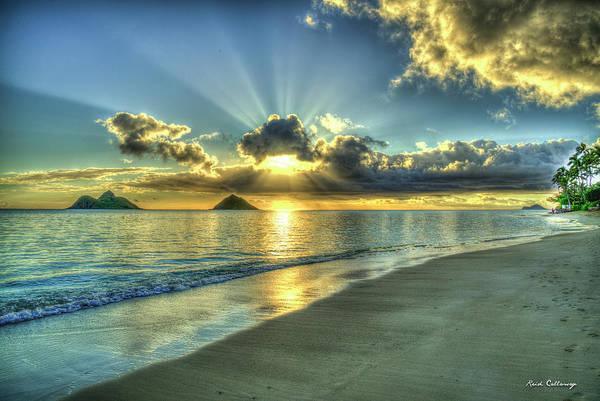 Dawns Early Light Lanikai Beach Sunrise Hawaii Collection Art Art Print