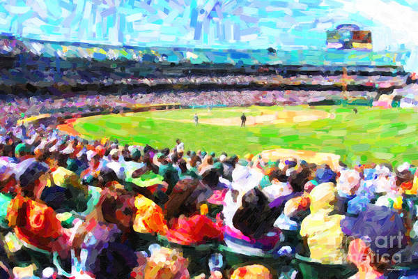 Baseball Art Print featuring the photograph Day Game At The Old Ballpark by Wingsdomain Art and Photography