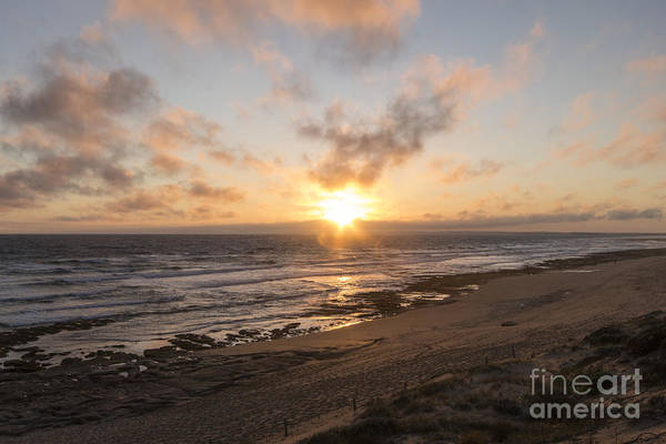 Beach Art Print featuring the photograph Daylight's Last Rays by Linda Lees
