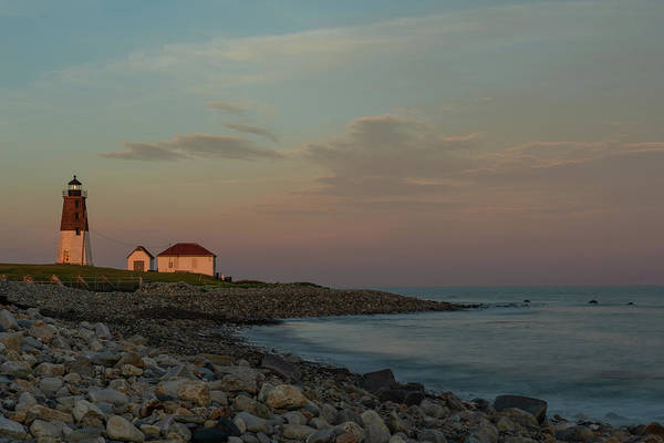 Lighthouse Art Print featuring the photograph Days End by Terri Mongeon