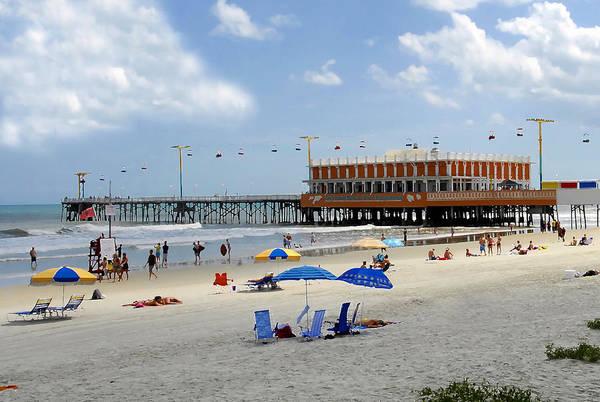 Daytona Beach Florida Art Print featuring the photograph Daytona Beach Pier by David Lee Thompson