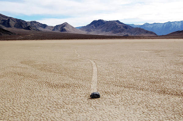 Death Valley Art Print featuring the photograph Death Valley Racetrack by Breck Bartholomew