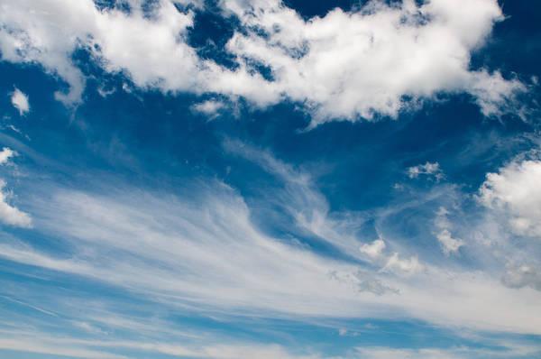 Sky Art Print featuring the photograph Deep Blue Sky by Rosemary Legge