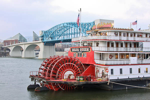 Delta Queen Art Print featuring the photograph Delta Queen In Chattanooga by Tom and Pat Cory