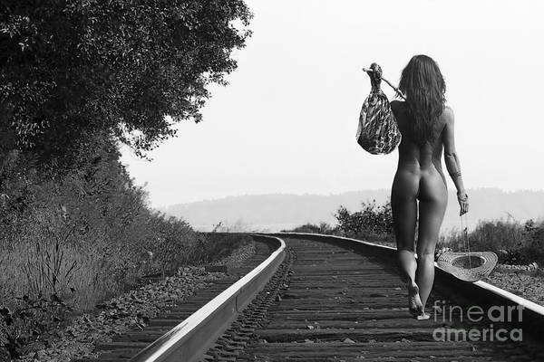 Nude Art Print featuring the photograph Derailed by Naman Imagery