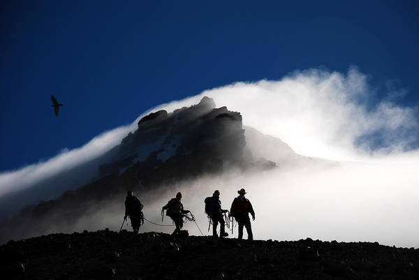 Climbers Art Print featuring the photograph Descent From Storm by Alasdair Turner