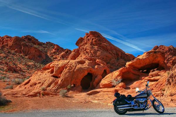 Desert Art Print featuring the photograph Desert Rider by Charles Warren