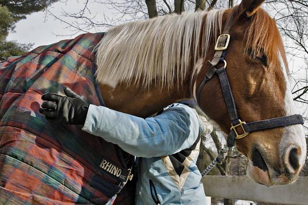 Horse Art Print featuring the photograph Devotion by Jack Goldberg