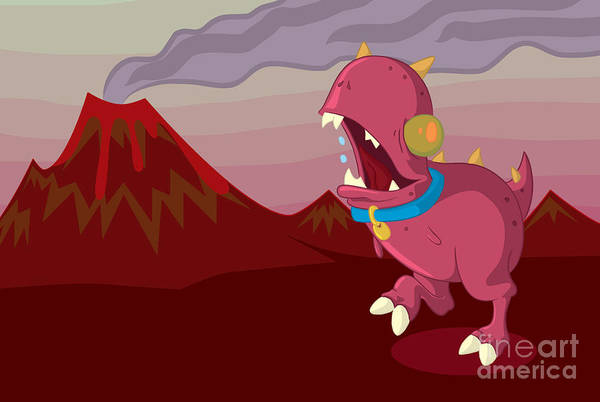 Illustrator Art Print featuring the digital art Dino by Kyle Harper