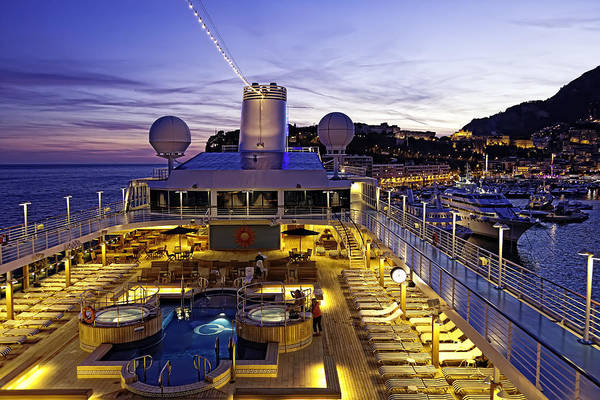 Monte Carlo Art Print featuring the photograph Docked In Monte Carlo by Janet Fikar
