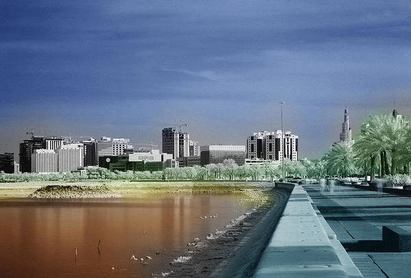 Doha Art Print featuring the photograph Doha Corniche In Infra-red by Paul Cowan