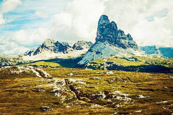Nature Art Print featuring the painting Dolomites, Monte Piana, Italy by Celestial Images