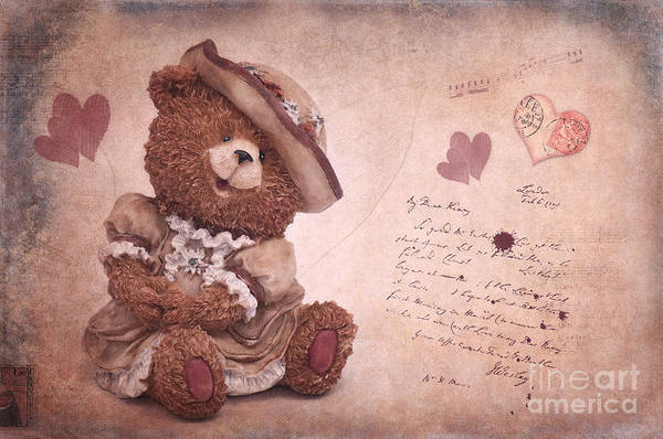 Bear Art Print featuring the photograph Dorothy In Love by Angela Doelling AD DESIGN Photo and PhotoArt
