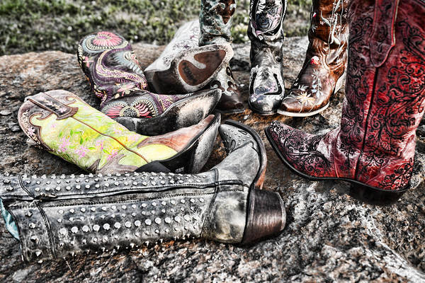 Boot Art Print featuring the photograph Down Boots Up Boots by Sharon Popek