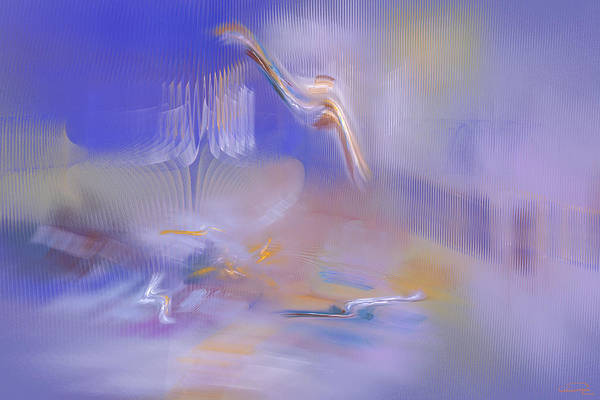Abstract Art Print featuring the painting Dreaming by Emma Alvarez