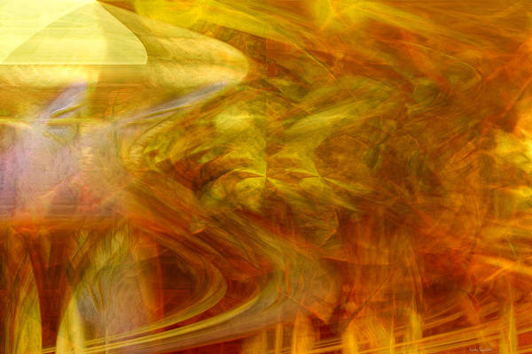 Abstract Art Print featuring the digital art Dreamstate by Linda Sannuti
