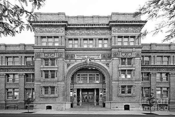 Drexel University Art Print featuring the photograph Drexel University Main Building by University Icons