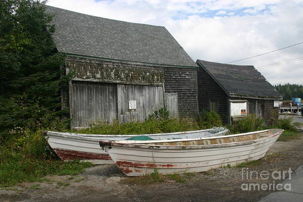 Old Fishing Storage House. Art Print featuring the photograph Dry Dock by Dennis Curry
