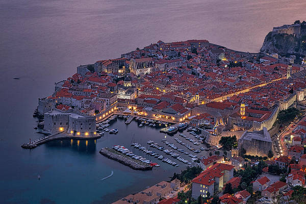 Dubrovnik Art Print featuring the photograph Dubrovnik Twilight by Stuart Litoff