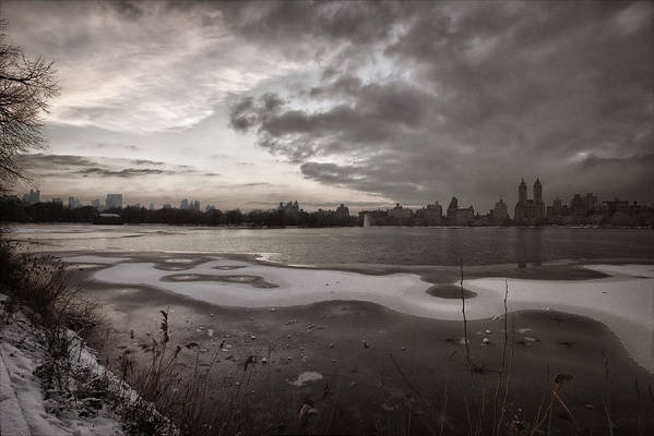 Sunset Art Print featuring the photograph Early Evening Central Park In Winter by Robert Ullmann