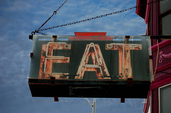 Eat Art Print featuring the photograph Eat by Jame Hayes