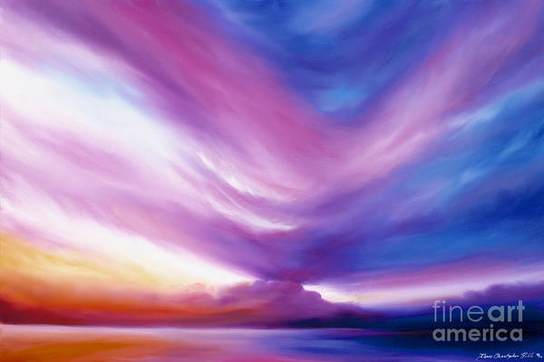 Clouds Art Print featuring the painting Ecstacy by James Christopher Hill