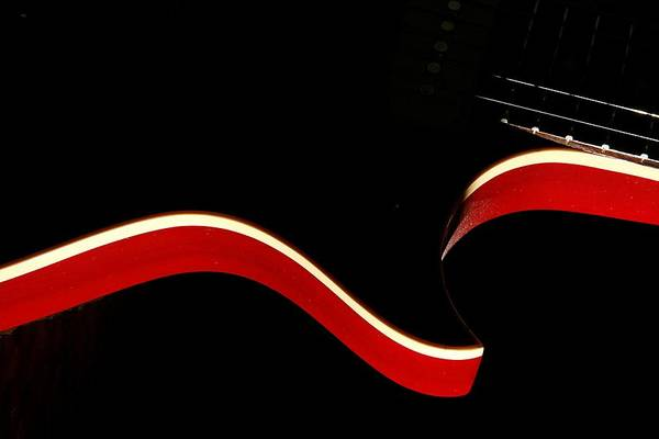 Guitar Art Print featuring the photograph Ed's Red 1 by Art Ferrier