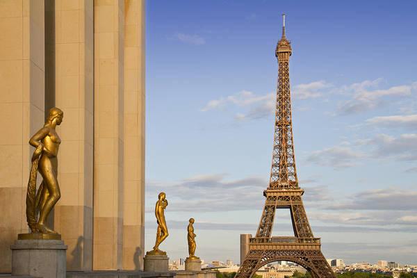 Historic Art Print featuring the photograph Eiffel Tower Paris Trocadero by Melanie Viola