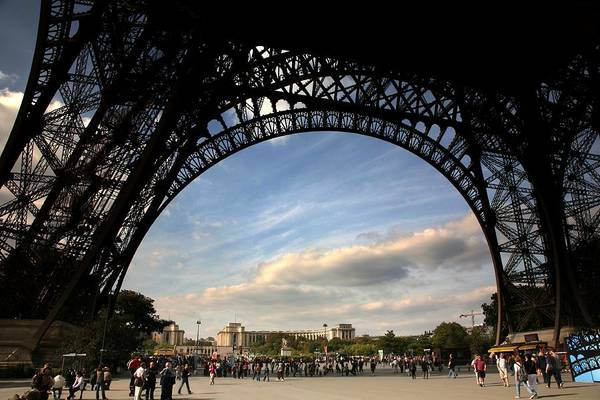 France Art Print featuring the photograph Eiffel Tower View by Chuck Kuhn