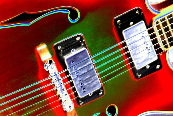 Guitar Art Print featuring the digital art Electric Guitar by Peter McIntosh