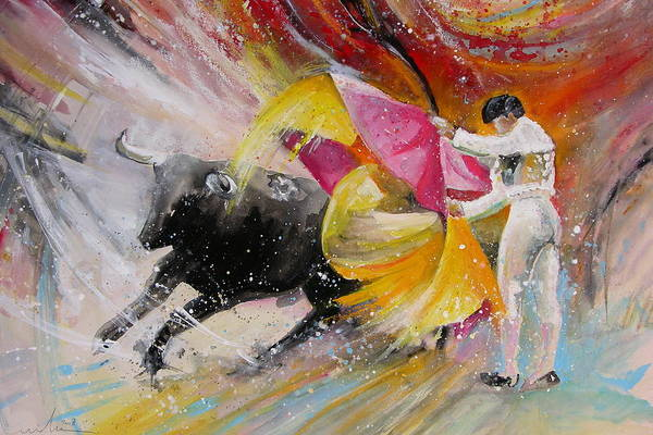 Animals Art Print featuring the painting Elegance by Miki De Goodaboom