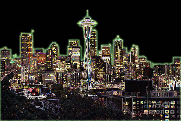 Colorful Art Print featuring the photograph Emerald City by Larry Keahey