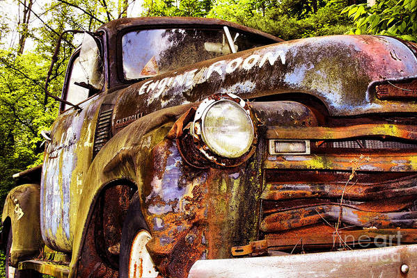Trucks Art Print featuring the photograph Engine Room by Tom Griffithe
