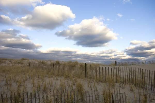 Beach Art Print featuring the photograph Evening Sunset Beach Scene Along Cape by Keenpress