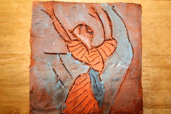 Jesus Art Print featuring the ceramic art Exclaim - Tile by Gloria Ssali