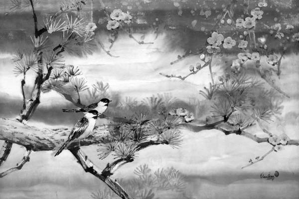 Chinese Painting Art Print featuring the painting Expressions Of Spring by Eileen Fong
