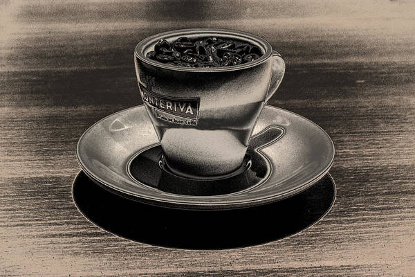 Cafe Art Print featuring the photograph Expresso.piccolo.argenteo by Robert Litewka