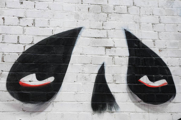 London Art Print featuring the photograph Eyes And Nose On A Wall by Luigi Petro