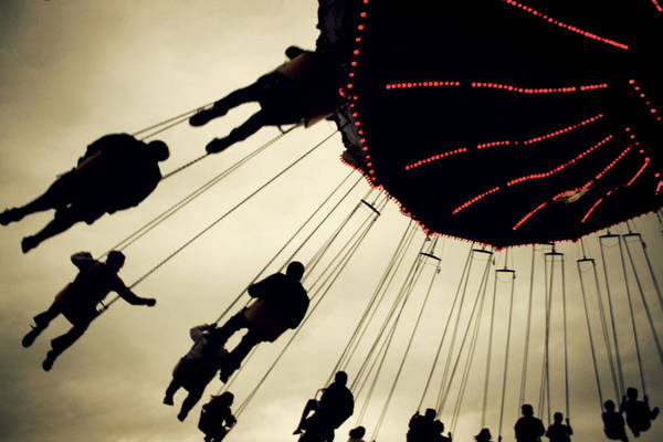 Fair Print featuring the photograph Fair Flying by Kerry Langel