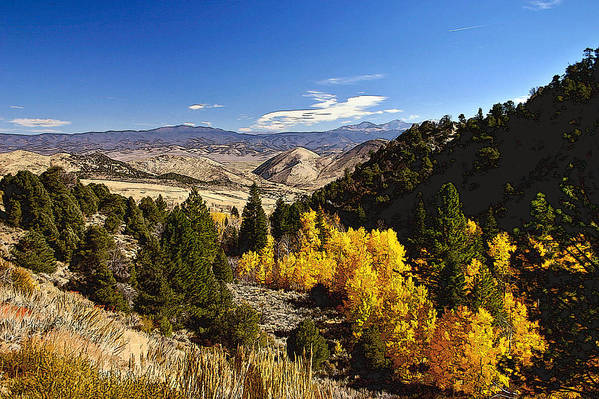Monitor Pass Art Print featuring the painting Fall Monitor Pass by Larry Darnell
