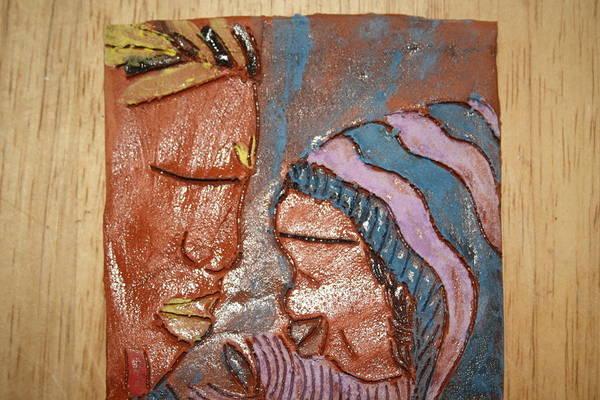 Jesus Art Print featuring the ceramic art Family 11 - Tile by Gloria Ssali